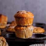 Banana, date and pecan muffins