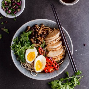 Roasted chicken ramen