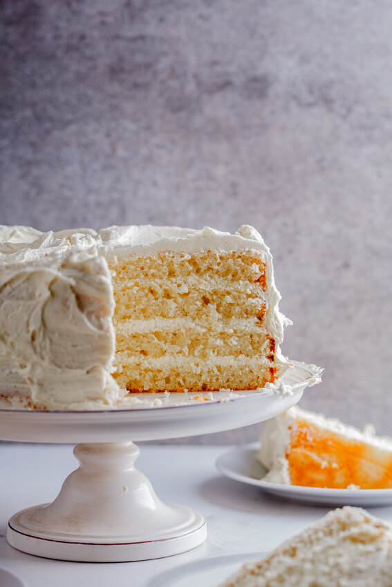Lemon yoghurt cake with white chocolate frosting
