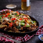 Pulled pork loaded fries