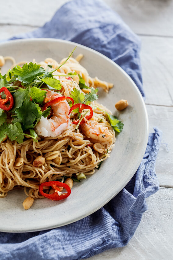Vietnamese prawn salad with soy-lime dressing