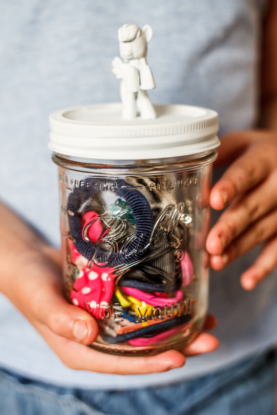 DIY mason keepsake jar