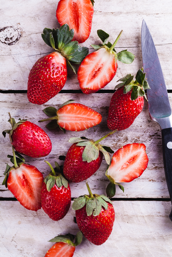 Strawberries for smoothies