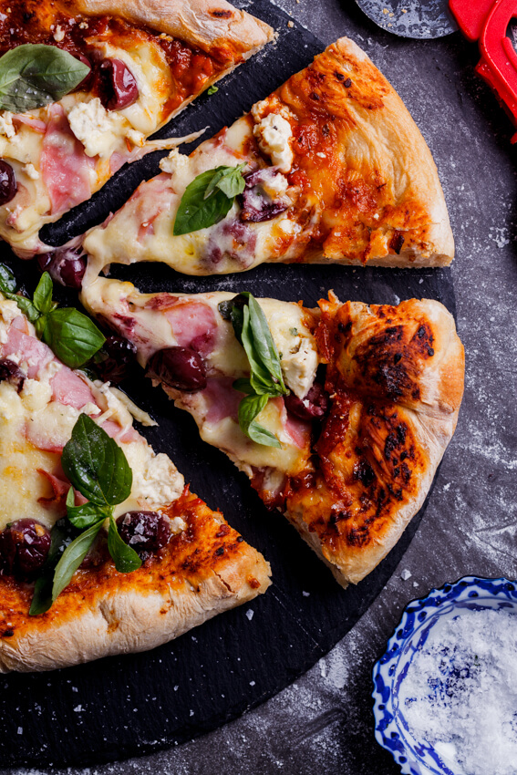 Cheat's deep dish pizza