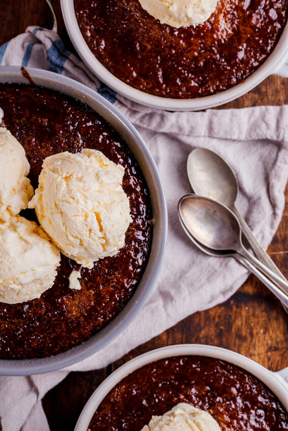 Malva pudding with frozen custard