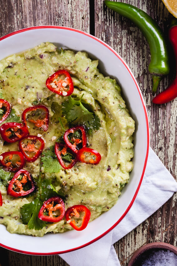Guacamole is so quick and easy to throw together and is perfect when used as a dip, dolloped onto burgers or served with cheesy nachos.