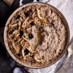Mushroom risotto with fresh black truffles