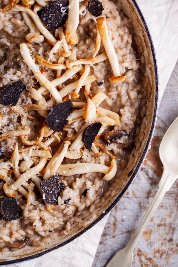 Black truffle and mushroom risotto