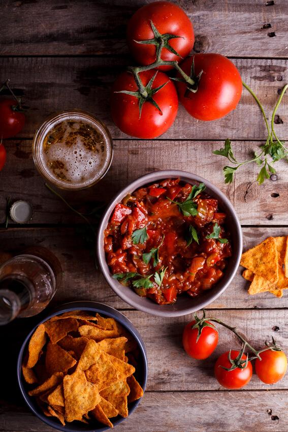Easy home-made salsa