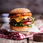 Hash brown cheeseburgers with pickled jalapeños
