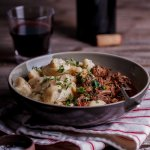 Lamb ragu with cauliflower gnocchi