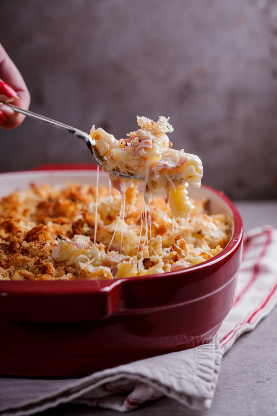 Chicken Cordon Bleu pasta bake