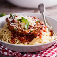 Crispy corn flake Chicken Parmesan