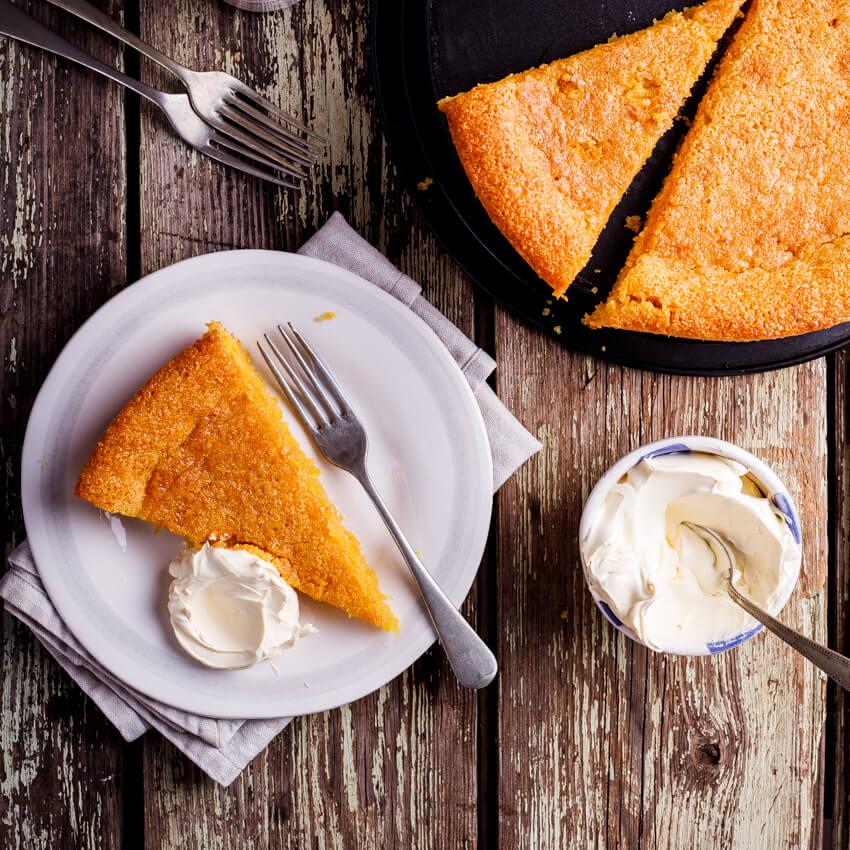 Gluten Free Lemon Almond Polenta Cake