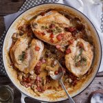 Creamy bacon and mushroom chicken breasts