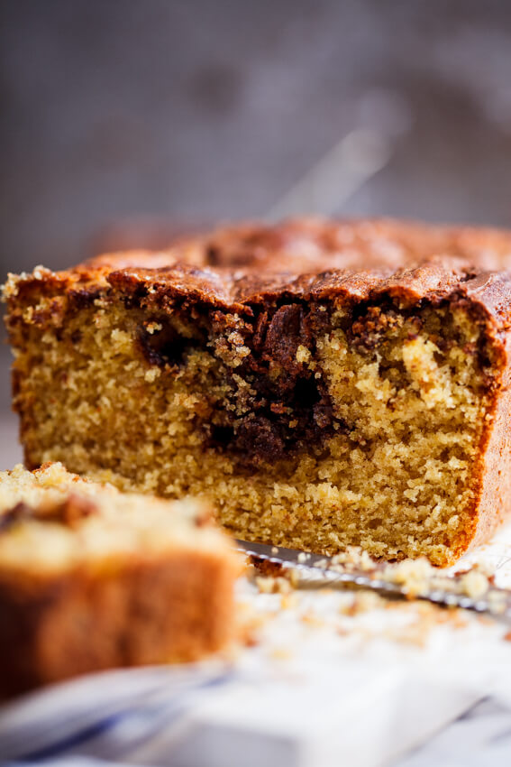 Nutella-swirled pumpkin bread