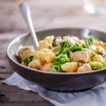 Creamy chicken and broccoli gnocchi