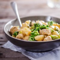 Creamy chicken and broccoli gnocchi