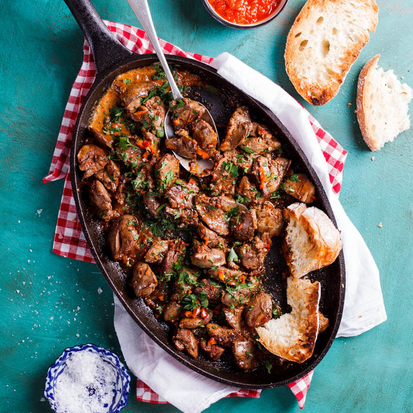 Peri Peri Chicken Livers Simply Delicious