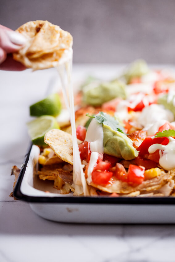 Easy Rotisserie Chicken Nachos Simply Delicious