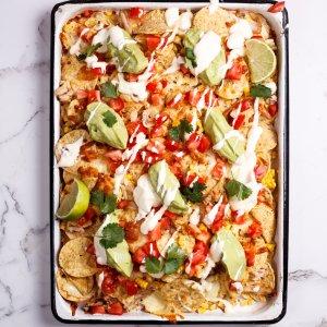 Rotisserie chicken nachos