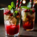 Cranberry and ginger mojito