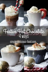 Festive hot chocolate 4 ways
