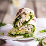 Healthy turkey Caesar wrap