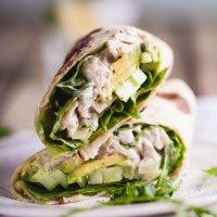 Healthy turkey Caesar wrap