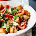 Caprese Panzanella salad