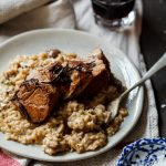Date night pork fillet with mushroom risotto