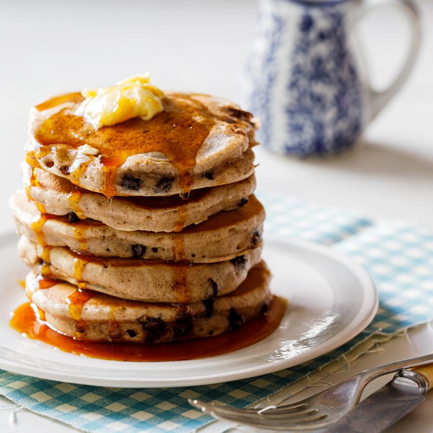 Hot cross bun pancakes