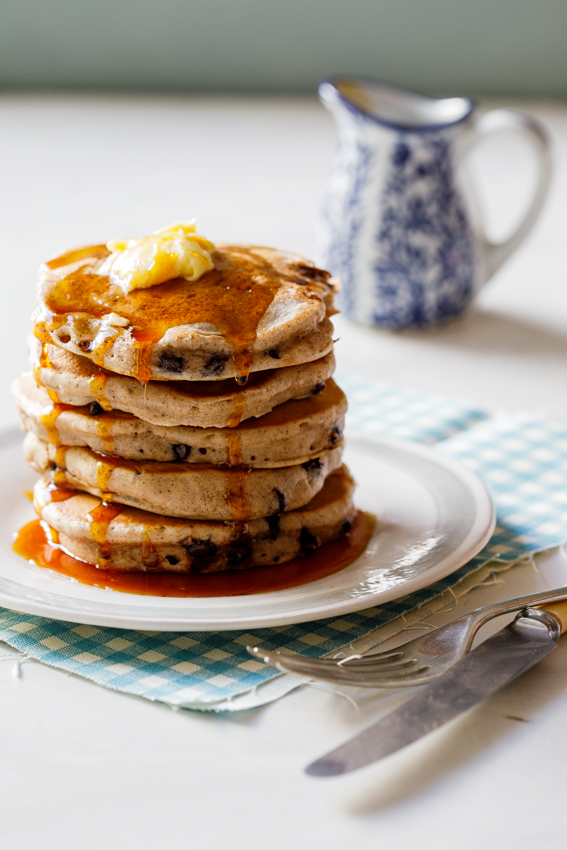 Hot cross bun pancakes