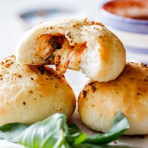 Margarita pizza rolls