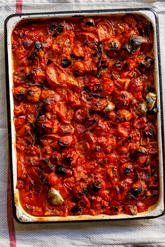 easy roasted tomato sauce