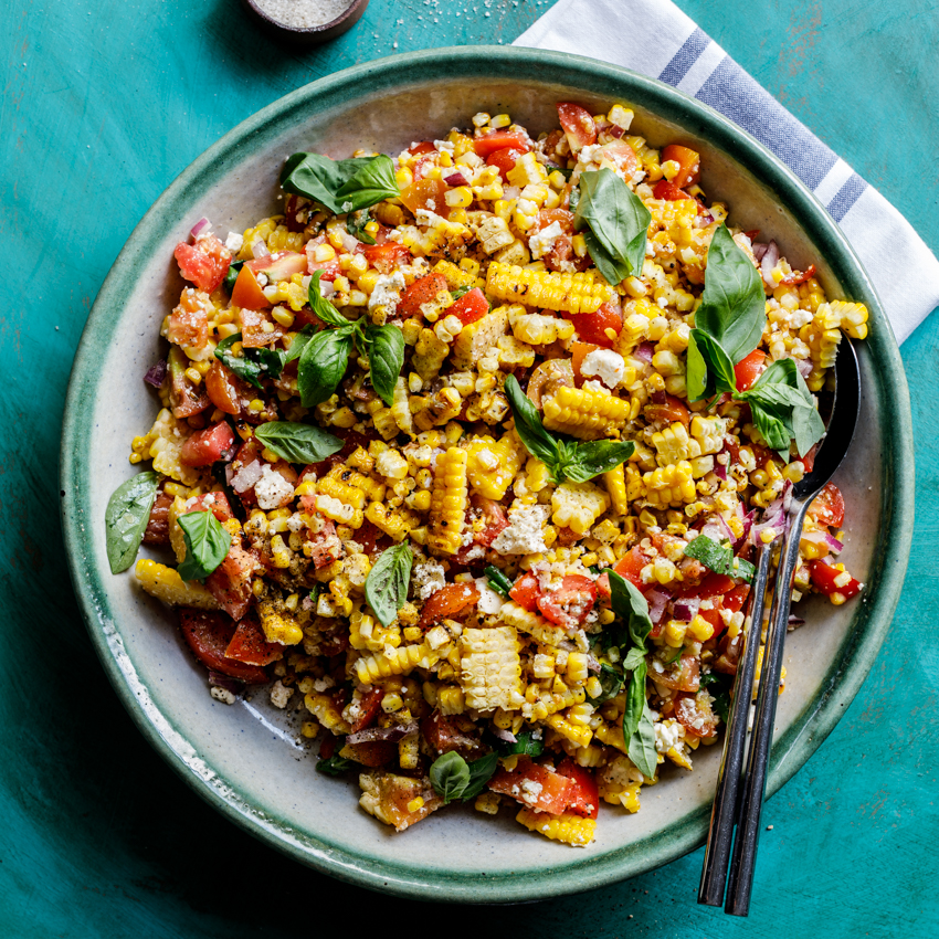 Home simply delicious food summer grilled corn salad forumfinder Choice Image