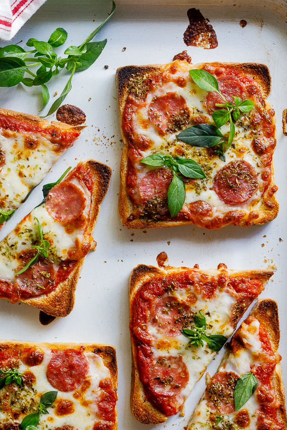 Easy Pizza Toast Simply Delicious