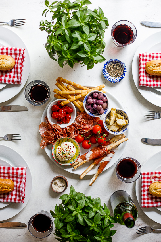 Italian feast table