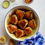 Sticky lemon-honey chicken