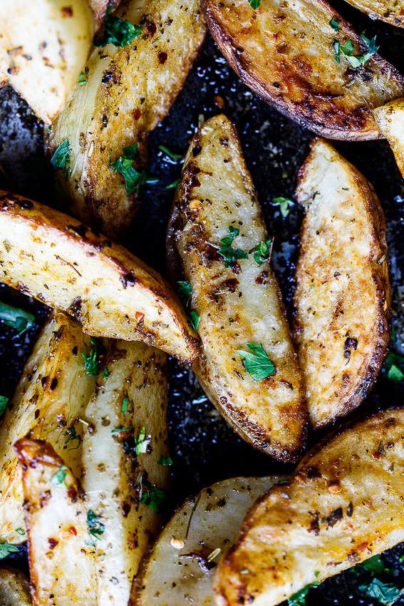 how to cut big potato wedges