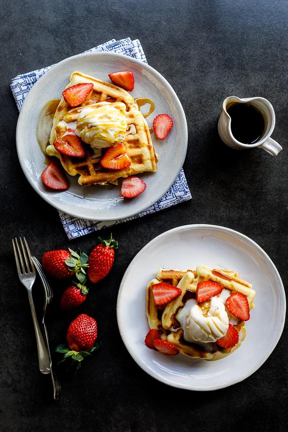Vanilla Cake Waffles