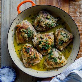 Chicken Piccata Thighs