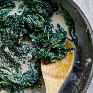 Easy creamed spinach