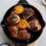 Grilled peri-peri chicken thighs