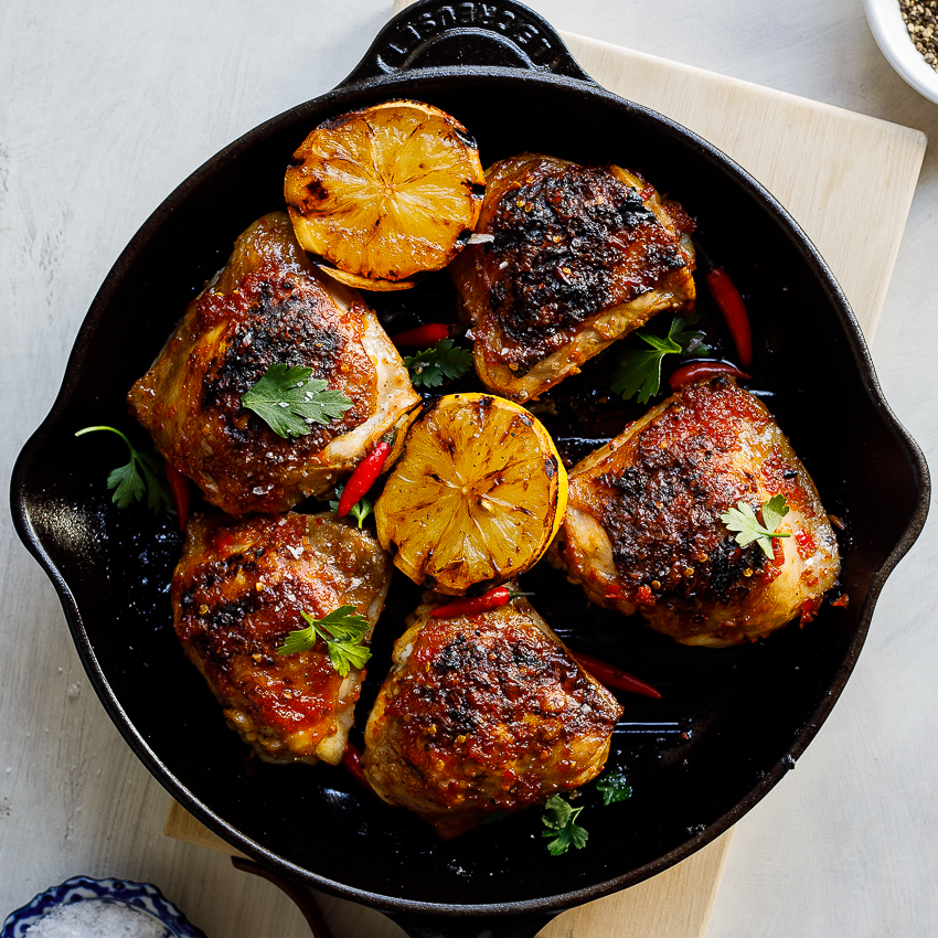 Grilled Peri Peri Chicken Thighs Simply Delicious