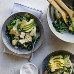 Easy no-egg kale chicken Caesar salad