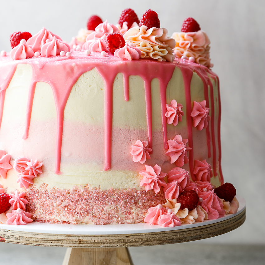 Super Raspberry Mascarpone Layer Cake Simply Delicious Funny Birthday Cards Online Drosicarndamsfinfo