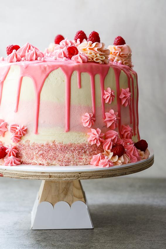 Raspberry Mascarpone layer cake