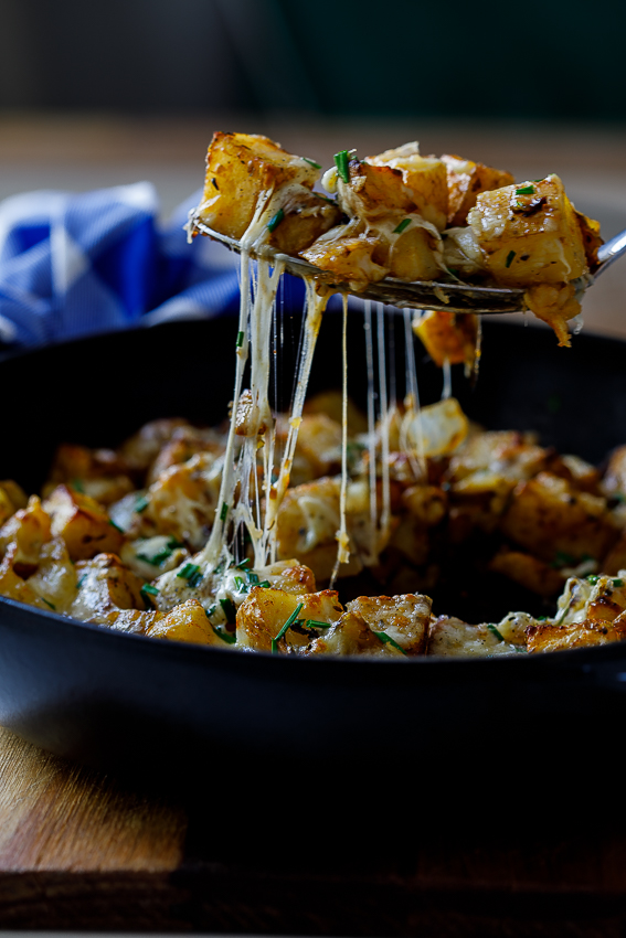 Roasted cheesy breakfast potatoes
