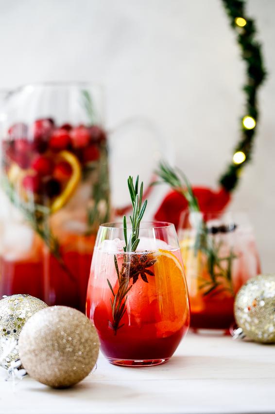 Christmas Cranberry Sangria